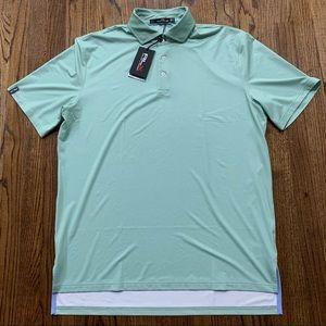 RLX Ralph Lauren Green Dotted Golf Polo
